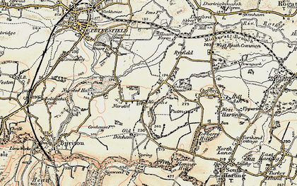 Old map of Westons in 1897-1900