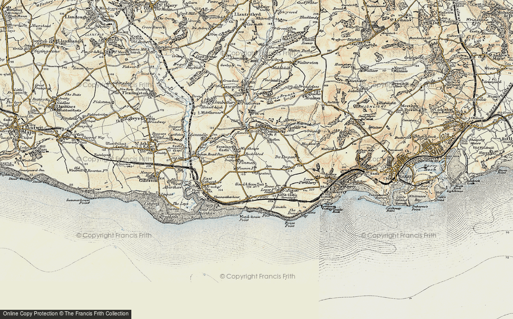 Old Map of Nurston, 1899-1900 in 1899-1900