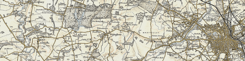 Old map of Worttesley Old Park in 1902