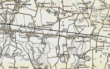Old map of Nutbourne in 1897-1899
