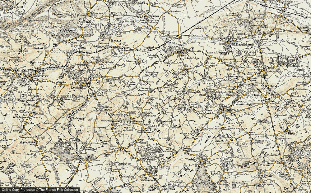 Old Map of Historic Map covering Tibhall in 1900-1903