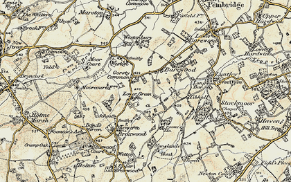Old map of Tibhall in 1900-1903
