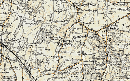 Old map of Nuthurst in 1898