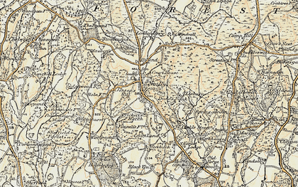 Old map of Nutley in 1898