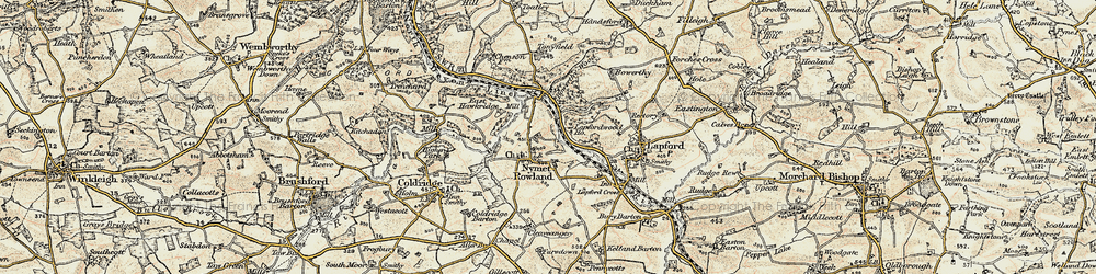 Old map of Toatley in 1899-1900