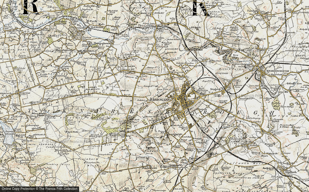 Old Map of Historic Map covering Bardner Wood in 1903-1904
