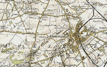 Old map of Bardner Wood in 1903-1904