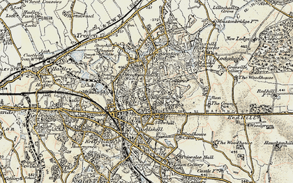 Old map of Oakengates in 1902