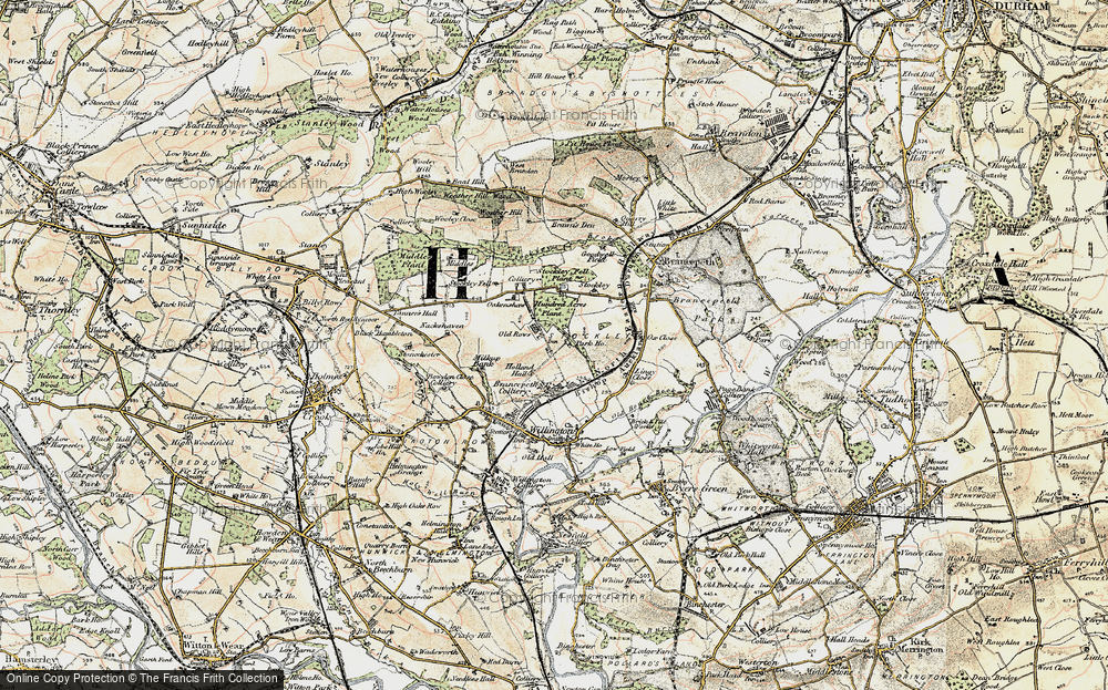 Old Map of Historic Map covering Lingey Close in 1901-1904