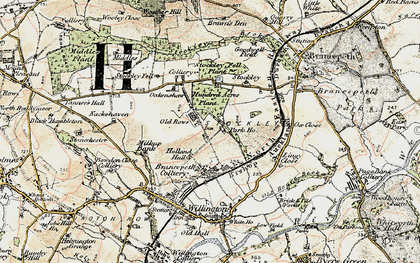 Old map of Lingey Close in 1901-1904