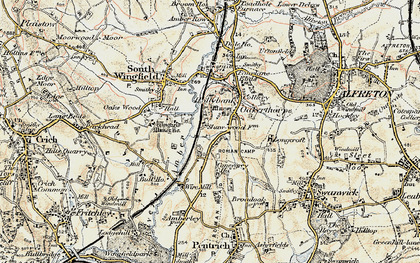 Old map of Oakerthorpe in 1902-1903