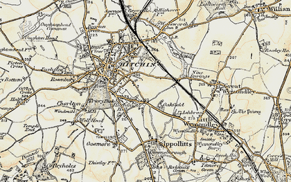 Old map of Oakfield in 1898-1899