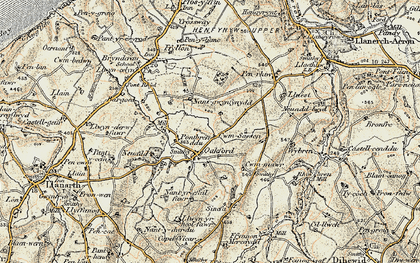Old map of Oakford in 1901-1903