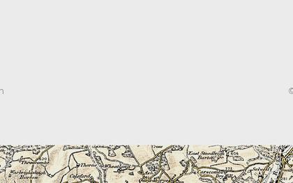 Old map of Wonham Ho in 1898-1900