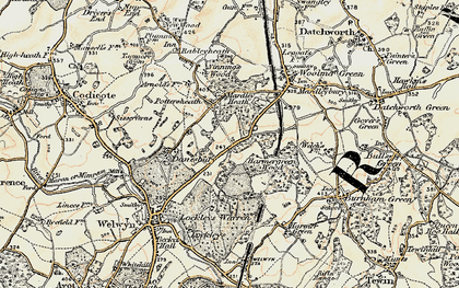 Old map of Oaklands in 1898-1899