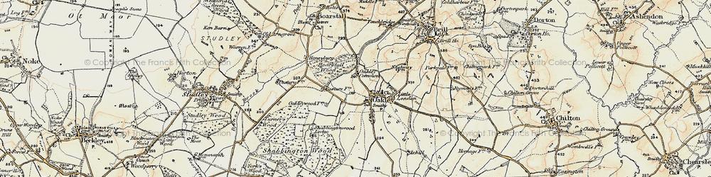 Old map of Oakley in 1898-1899
