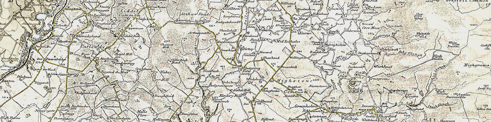 Old map of Woodside in 1901-1904