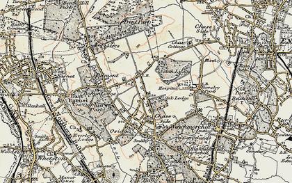 Old map of Oakwood in 1897-1898