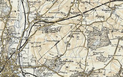 Old map of Oakwood in 1902-1903