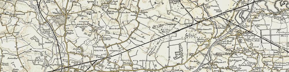 Old map of Oakwood in 1903