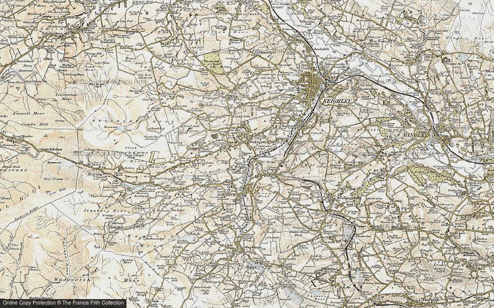 Old Map of Oakworth, 1903-1904 in 1903-1904