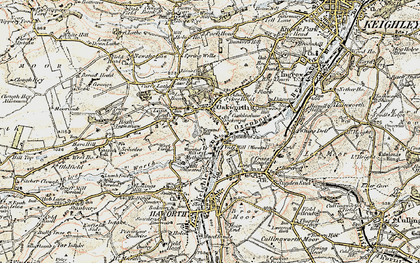 Old map of Oakworth in 1903-1904