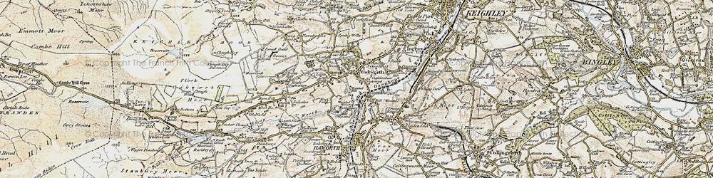 Old map of Oakworth in 1903-1904