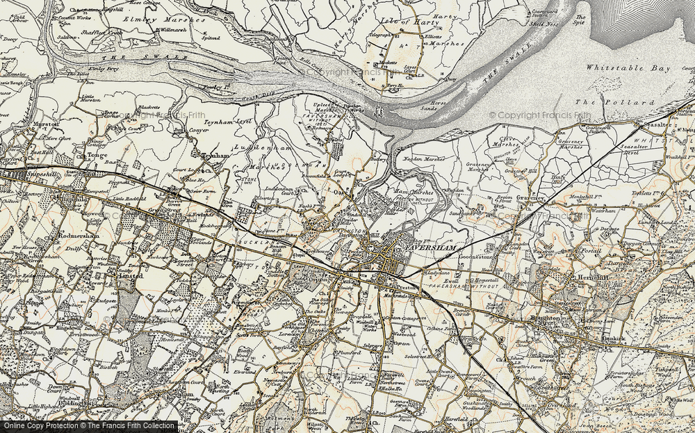 Old Map of Oare, 1897-1898 in 1897-1898