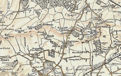 Old map of Oare in 1897-1899
