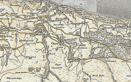 Old map of Yellow Stone in 1900