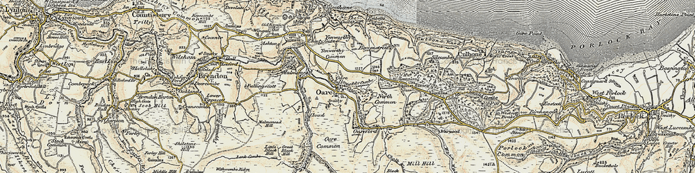 Old map of Yenworthy Common in 1900