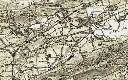 Old map of Wolflaw in 1907-1908