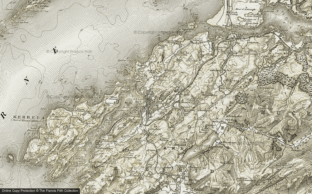 Old Map of Historic Map covering Achnalarig in 1906-1907