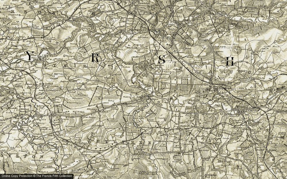 Old Map of Historic Map covering Back o' Hill in 1904-1905
