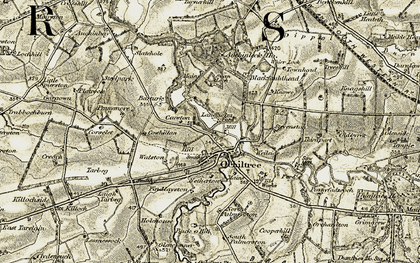 Old map of Lessnessock in 1904-1905