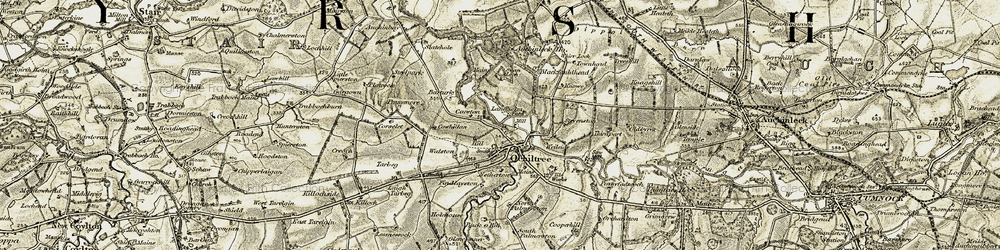 Old map of Ochiltree in 1904-1905