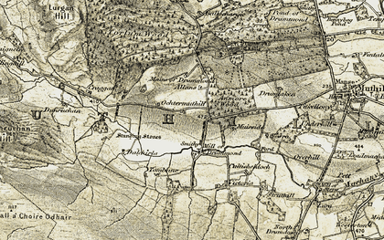 Old map of Allans in 1906-1907