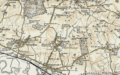Old map of Ockbrook in 1902-1903