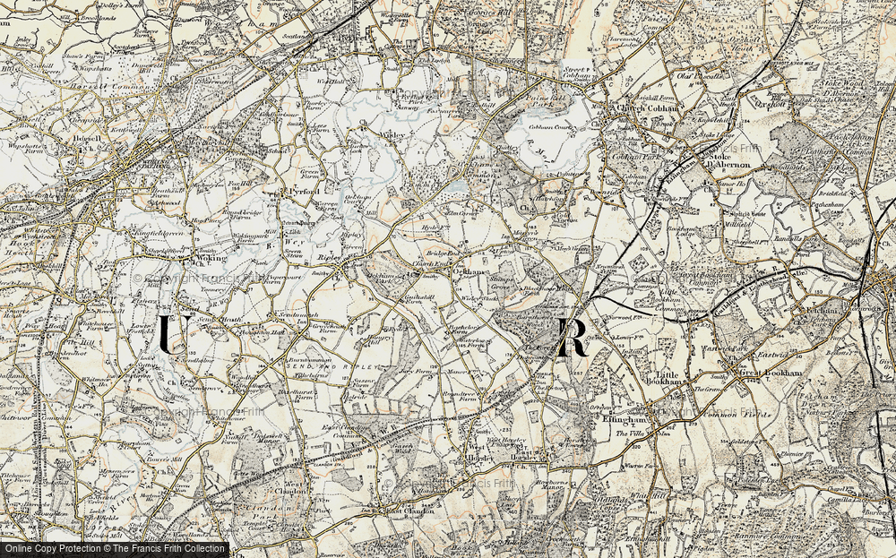 Old Map of Historic Map covering Bachelors in 1897-1909