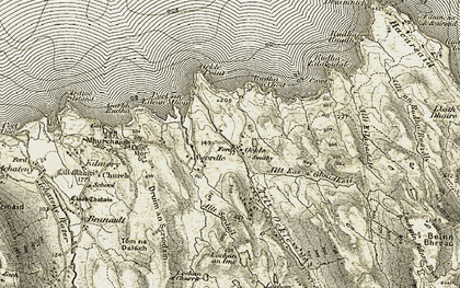 Old map of Allt Eas a' Ghaidheil in 1906-1908