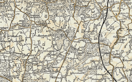 Old map of Ockley in 1898-1909