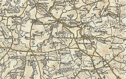 Old map of Langley in 1899-1900