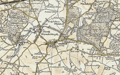 Old map of Odiham in 1898-1909