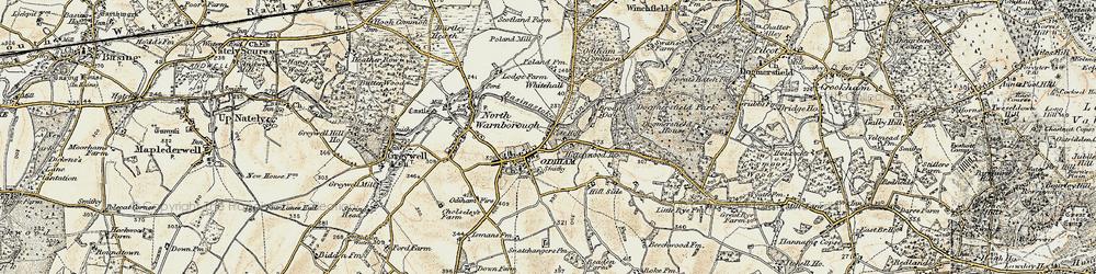 Old map of Odiham in 1898-1909