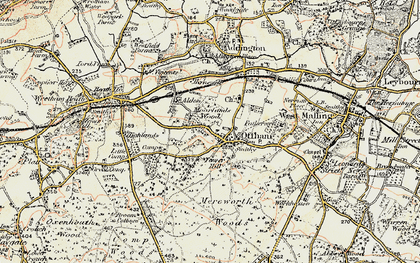 Old map of Aldon in 1897-1898