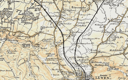 Old map of Offham in 1898