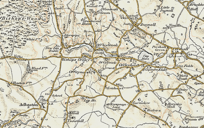 Old map of Lea Knowl in 1902