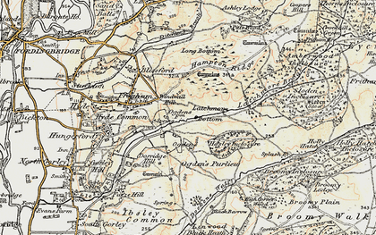 Old map of Abbots Well in 1897-1909