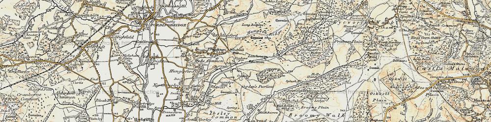 Old map of Alderhill Inclosure in 1897-1909