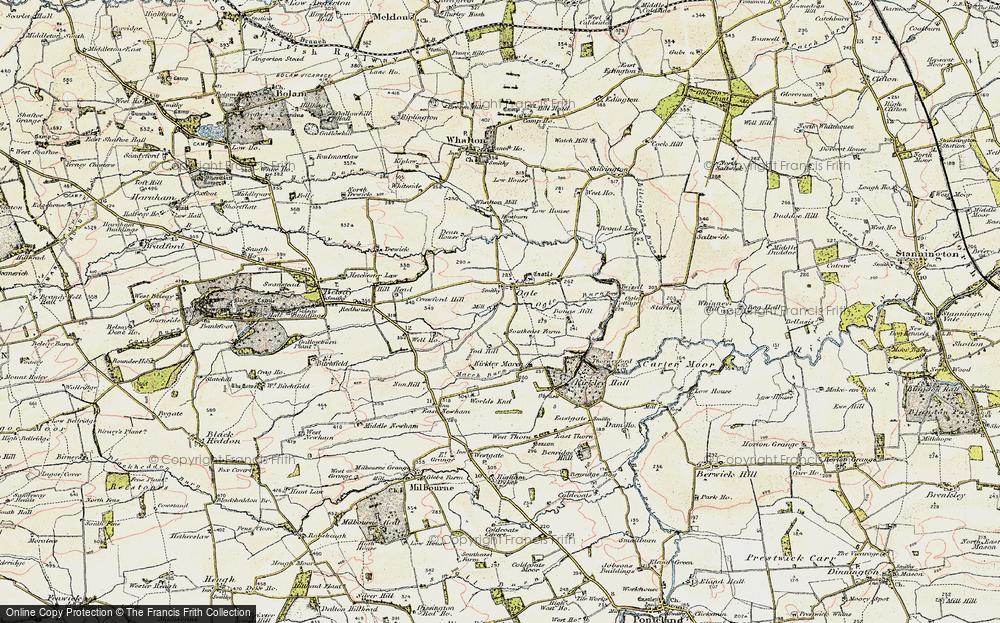 Old Map of Ogle, 1901-1903 in 1901-1903